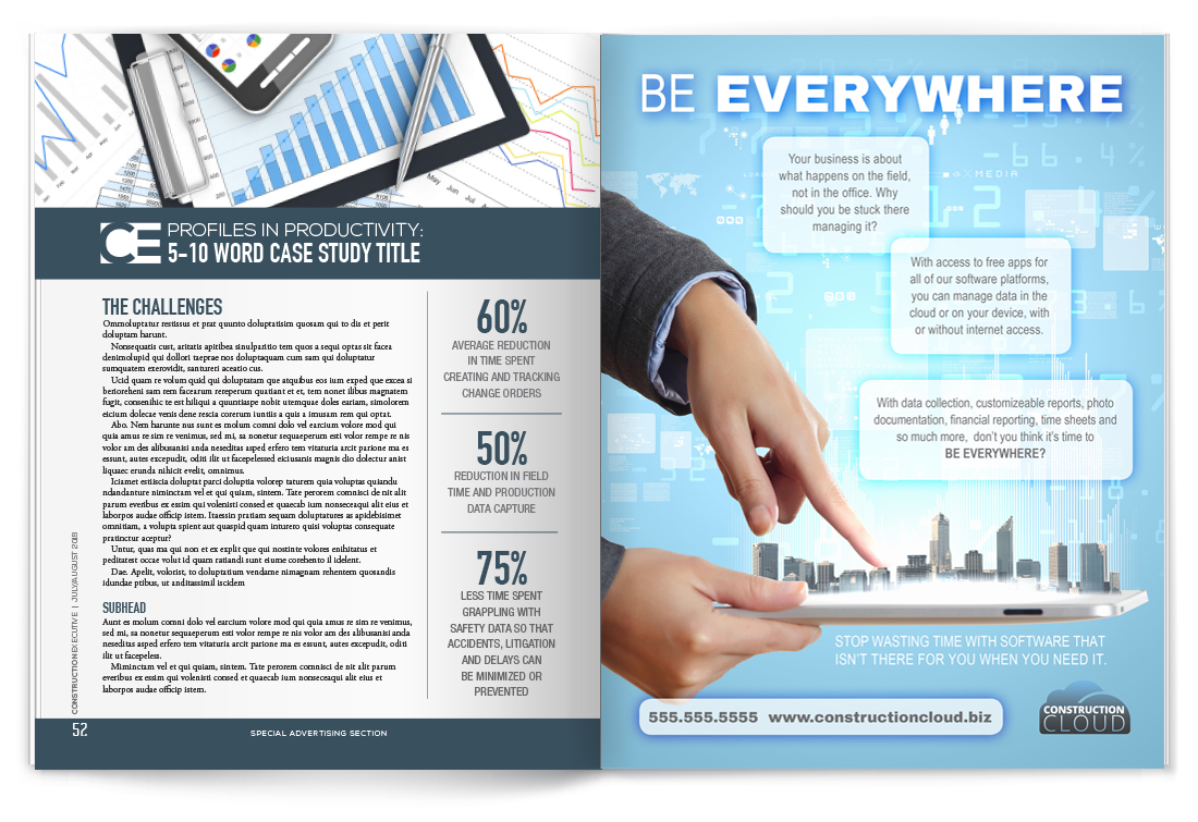 Option #2 - Full Page Case Study + Full-Page Ad